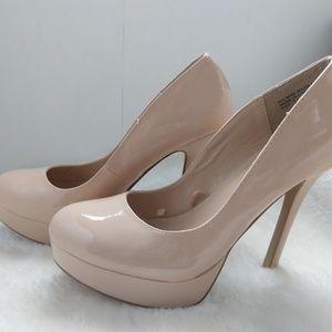 Charming Charlie nude platform heels, 7.5